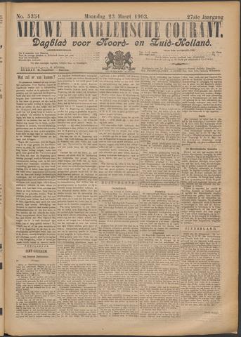 Nieuwe Haarlemsche Courant 1903-03-23