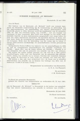 Raadsnotulen Heemstede 1969-06-26