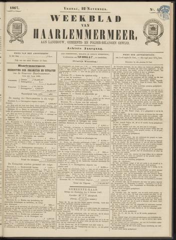 Weekblad van Haarlemmermeer 1867-11-22