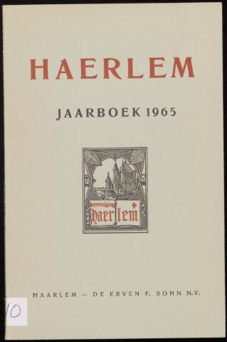 Jaarverslagen en Jaarboeken Vereniging Haerlem 1965