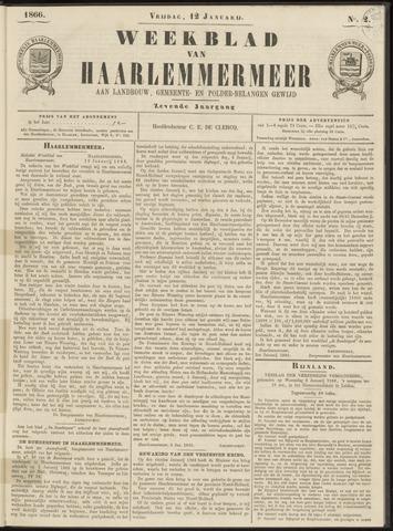 Weekblad van Haarlemmermeer 1866-01-12