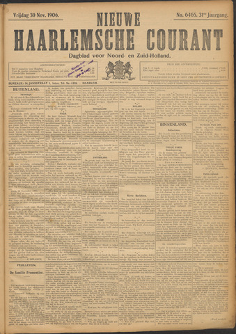 Nieuwe Haarlemsche Courant 1906-11-30