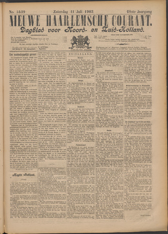 Nieuwe Haarlemsche Courant 1903-07-11