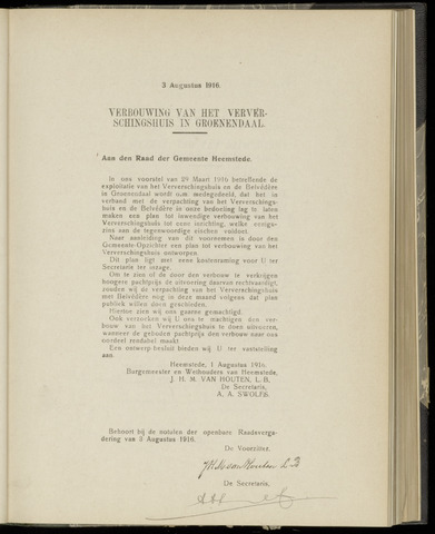 Raadsnotulen Heemstede 1916-08-03