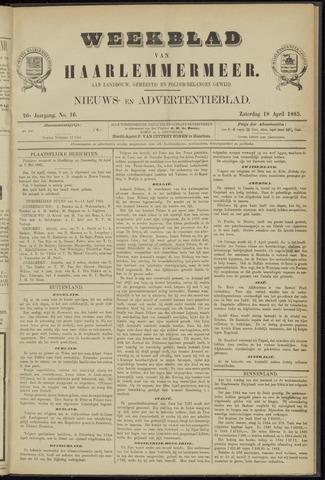 Weekblad van Haarlemmermeer 1885-04-18