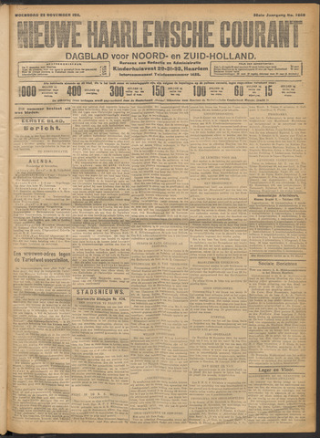 Nieuwe Haarlemsche Courant 1911-11-22