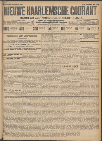 Nieuwe Haarlemsche Courant 1912-11-29