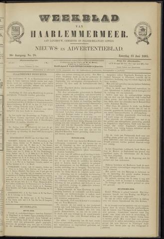Weekblad van Haarlemmermeer 1885-06-13