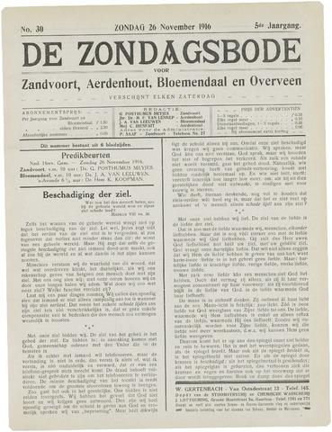 De Zondagsbode voor Zandvoort en Aerdenhout 1916-11-26
