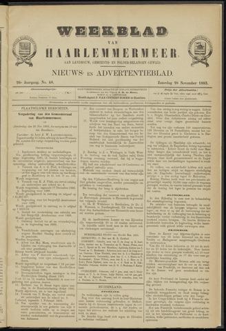 Weekblad van Haarlemmermeer 1885-11-28