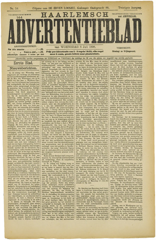 Haarlemsch Advertentieblad 1898-07-06