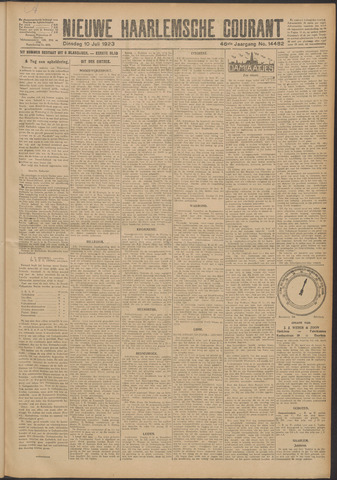 Nieuwe Haarlemsche Courant 1923-07-10
