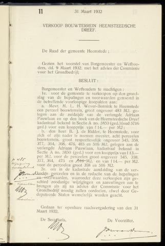 Raadsnotulen Heemstede 1932-03-31