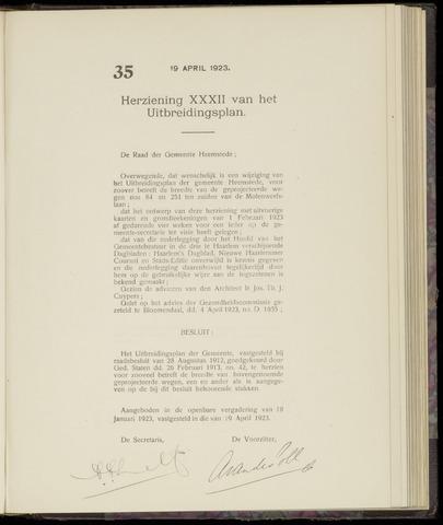 Raadsnotulen Heemstede 1923-04-19
