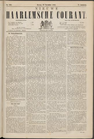 Nieuwe Haarlemsche Courant 1882-11-19