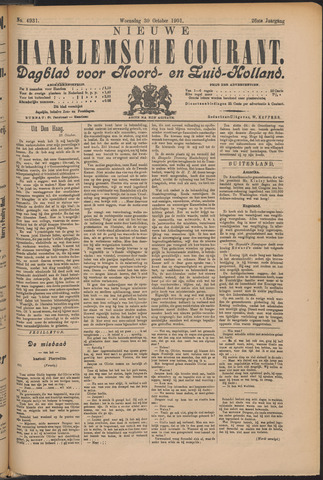 Nieuwe Haarlemsche Courant 1901-10-30
