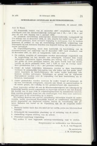 Raadsnotulen Heemstede 1968-02-29