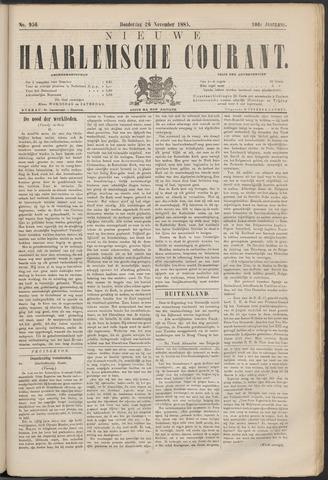 Nieuwe Haarlemsche Courant 1885-11-26