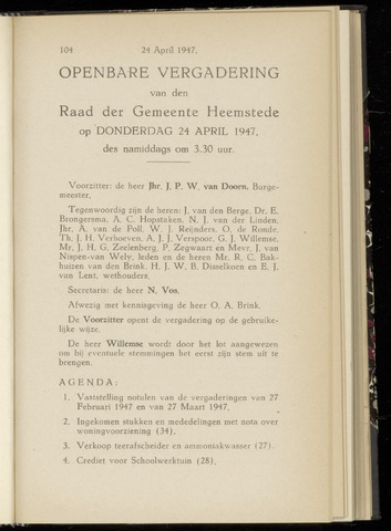 Raadsnotulen Heemstede 1947-04-24