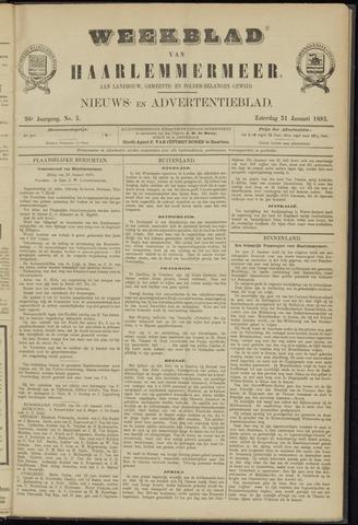 Weekblad van Haarlemmermeer 1885-01-31
