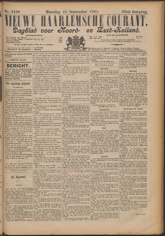 Nieuwe Haarlemsche Courant 1905-09-25