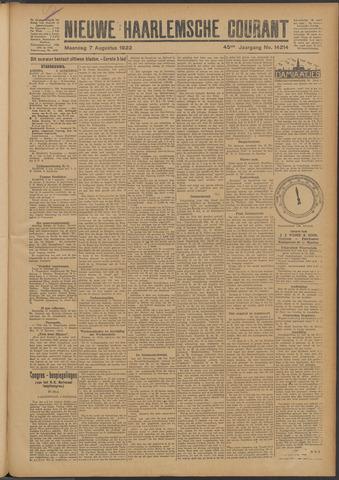 Nieuwe Haarlemsche Courant 1922-08-07