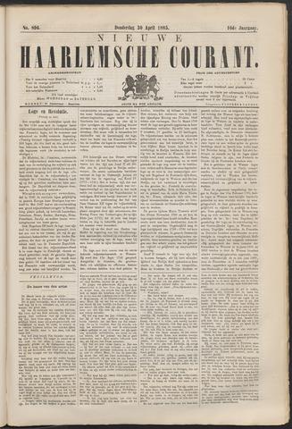 Nieuwe Haarlemsche Courant 1885-04-30