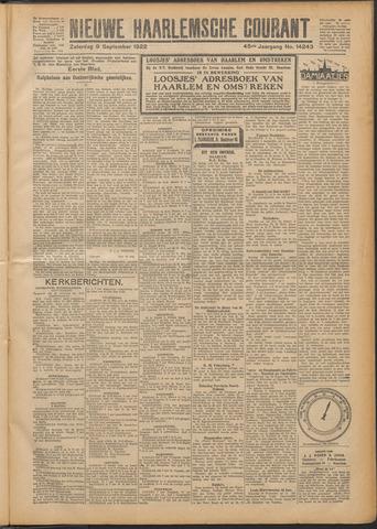 Nieuwe Haarlemsche Courant 1922-09-09
