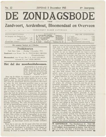 De Zondagsbode voor Zandvoort en Aerdenhout 1915-12-05