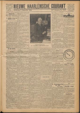 Nieuwe Haarlemsche Courant 1922-09-14