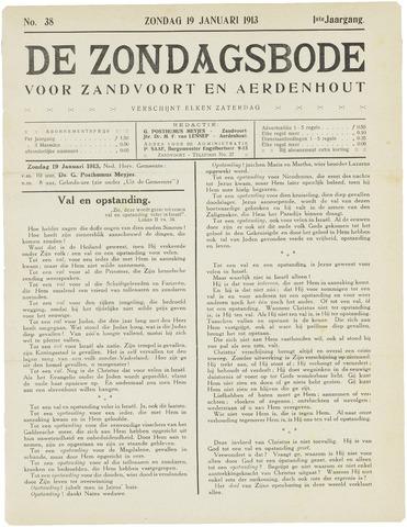 De Zondagsbode voor Zandvoort en Aerdenhout 1913-01-19