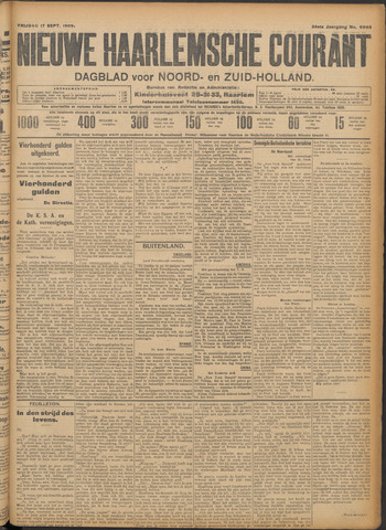 Nieuwe Haarlemsche Courant 1909-09-17