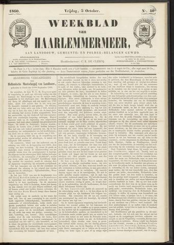 Weekblad van Haarlemmermeer 1860-10-05