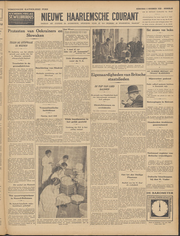 Nieuwe Haarlemsche Courant 1938-11-03