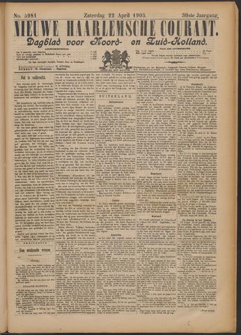 Nieuwe Haarlemsche Courant 1905-04-22