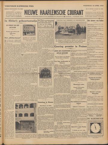 Nieuwe Haarlemsche Courant 1933-04-12