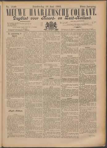 Nieuwe Haarlemsche Courant 1903-06-18