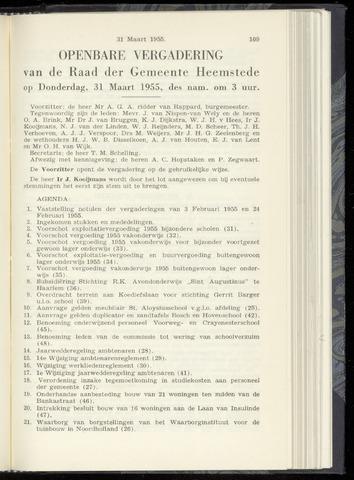 Raadsnotulen Heemstede 1955-03-31