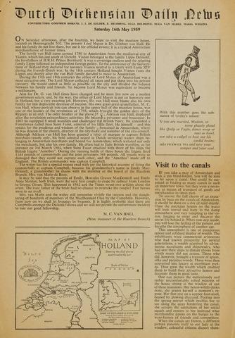 The Dutch Dickensian 1959