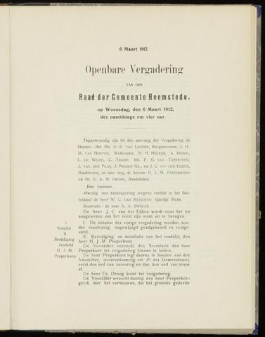 Raadsnotulen Heemstede 1912-03-06