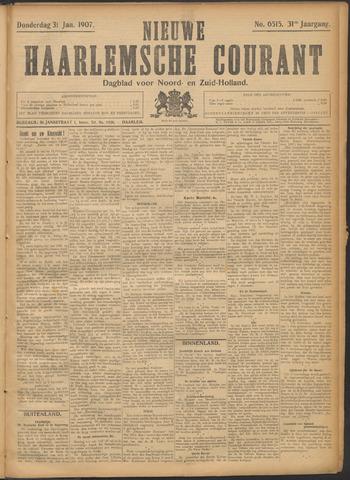 Nieuwe Haarlemsche Courant 1907-01-31