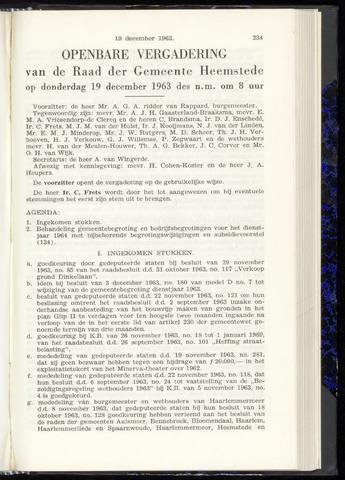 Raadsnotulen Heemstede 1963-12-19
