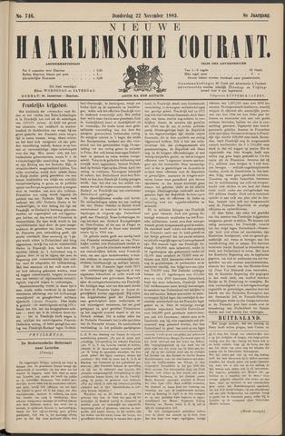 Nieuwe Haarlemsche Courant 1883-11-22