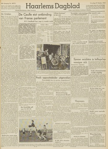 Haarlem's Dagblad 1947-10-27