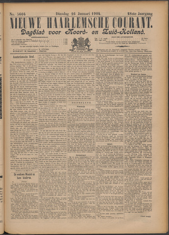 Nieuwe Haarlemsche Courant 1904-01-26