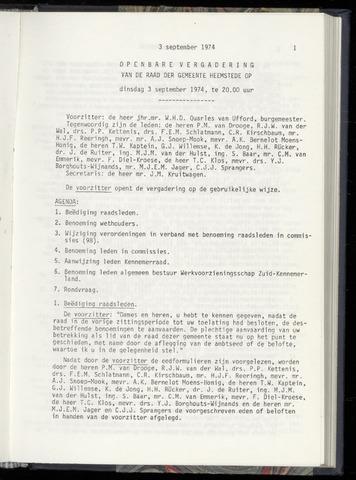 Raadsnotulen Heemstede 1974-09-03