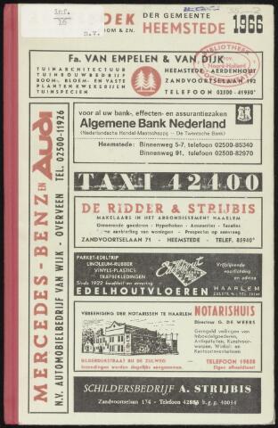 Adresboeken Heemstede 1966
