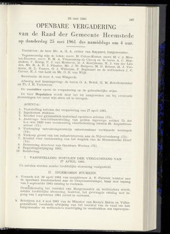 Raadsnotulen Heemstede 1961-05-25