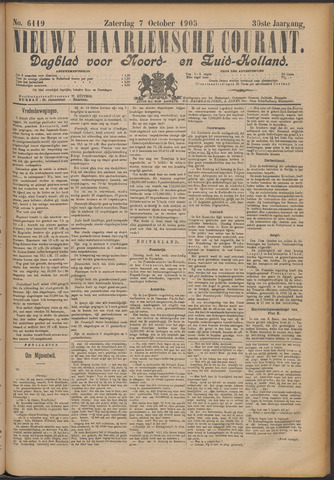 Nieuwe Haarlemsche Courant 1905-10-07