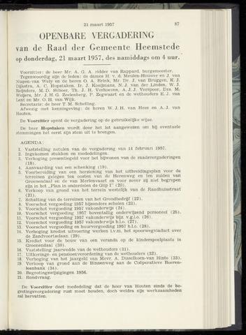 Raadsnotulen Heemstede 1957-03-21